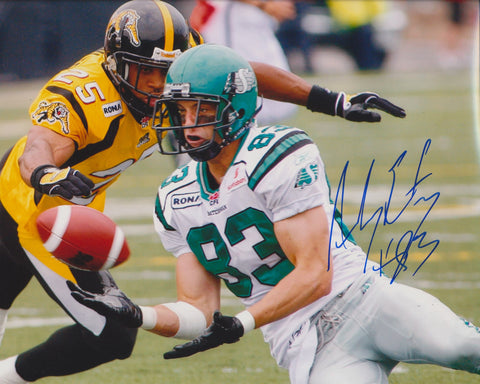 ANDY FANTUZ SIGNED SASKATCHEWAN ROUGHRIDERS 8X10 PHOTO 2
