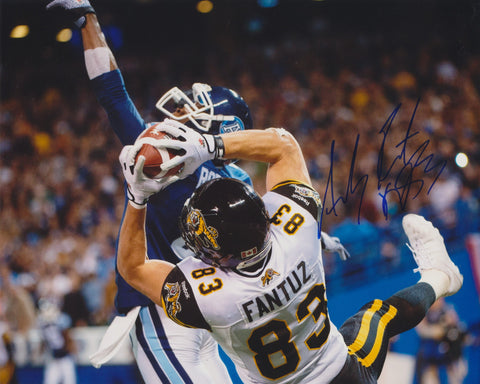 ANDY FANTUZ SIGNED HAMILTON TIGER CATS 8X10 PHOTO