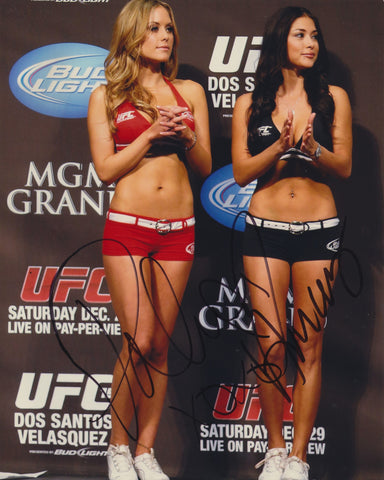 ARIANNY CELESTE & BRITTNEY PALMER SIGNED UFC RING GIRLS 8X10 PHOTO 4