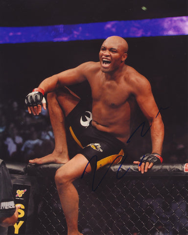 ANDERSON SILVA 'SPIDER' SIGNED UFC 8X10 PHOTO