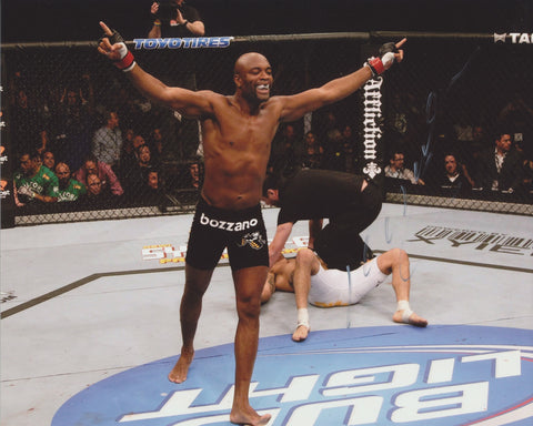 ANDERSON SILVA 'SPIDER' SIGNED UFC 8X10 PHOTO 3