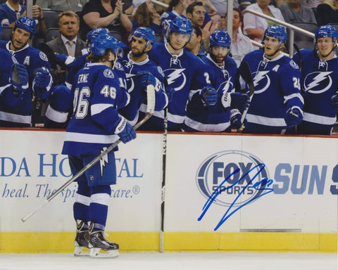 ADAM ERNE SIGNED TAMPA BAY LIGHTNING 8X10 PHOTO