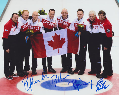 2014 TEAM CANADA OLYMPIC MEN'S CURLING TEAM SIGNED 8X10 PHOTO 2