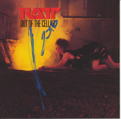 STEPHEN PEARCY SIGNED RATT OUT OF THE CELLAR CD COVER
