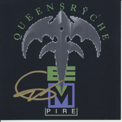 GEOFF TATE SIGNED QUEENSRYCHE EMPIRE CD COVER