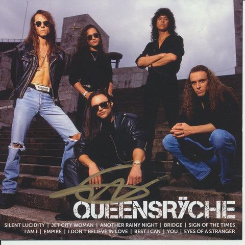 GEOFF TATE SIGNED QUEENSRYCHE ICON CD COVER
