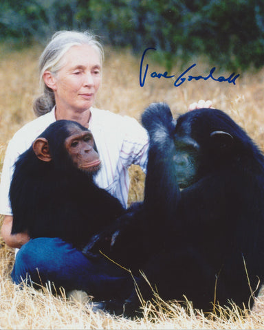 DR. JANE GOODALL SIGNED 8X10 PHOTO