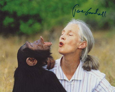 DR. JANE GOODALL SIGNED 8X10 PHOTO 4