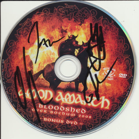 AMON AMARTH SIGNED SATURN RISING DVD DISK