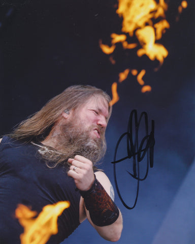 JOHAN HEGG SIGNED AMON AMARTH 8X10 PHOTO 2