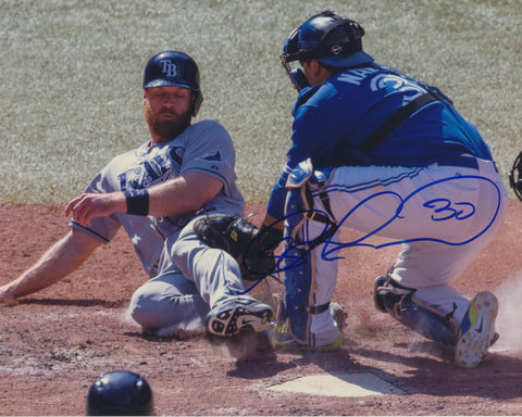 DIONER NAVARRO SIGNED TORONTO BLUE JAYS 8X10 PHOTO