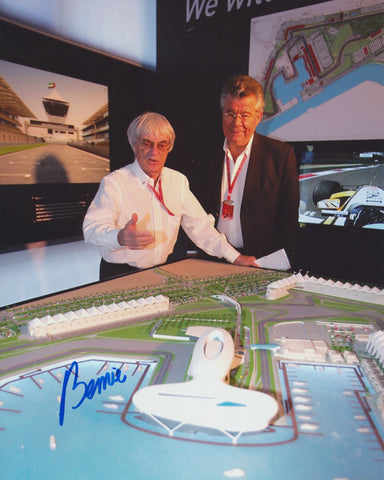 BERNIE ECCLESTONE SIGNED FORMULA 1 F1 8X10 PHOTO 2