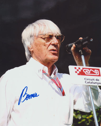 BERNIE ECCLESTONE SIGNED FORMULA 1 F1 8X10 PHOTO 3