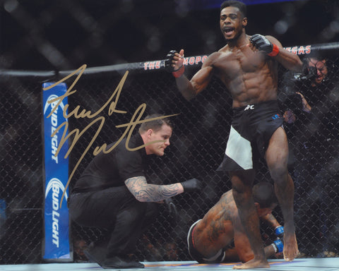 ALJAMAIN STERLING SIGNED UFC 8X10 PHOTO 2