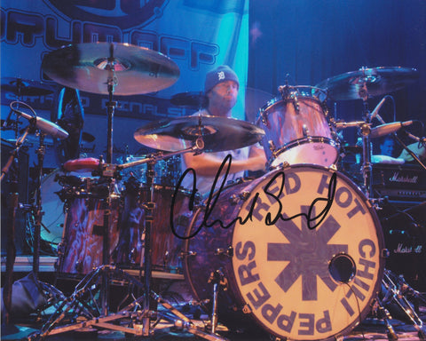 CHAD SMITH SIGNED RED HOT CHILI PEPPERS 8X10 PHOTO