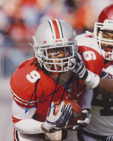 DURON CARTER SIGNED OHIO STATE 8X10 PHOTO