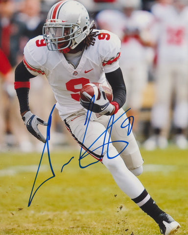 DURON CARTER SIGNED OHIO STATE 8X10 PHOTO 2