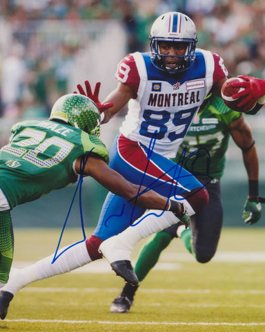 DURON CARTER SIGNED MONTREAL ALOUETTES 8X10 PHOTO
