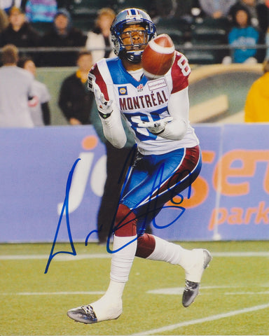 DURON CARTER SIGNED MONTREAL ALOUETTES 8X10 PHOTO 2