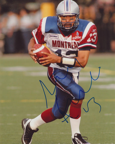 ANTHONY CALVILLO SIGNED MONTREAL ALOUETTES 8X10 PHOTO 5