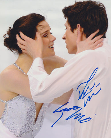 TESSA VIRTUE & SCOTT MOIR SIGNED FIGURE SKATING 8X10 PHOTO 4