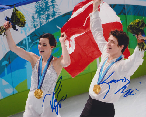 TESSA VIRTUE & SCOTT MOIR SIGNED 2010 OLYMPIC FIGURE SKATING 8X10 PHOTO 3