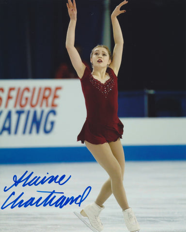 ALAINE CHARTRAND SIGNED FIGURE SKATING 8X10 PHOTO 2