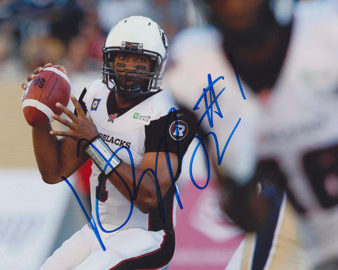 HENRY BURRIS SIGNED OTTAWA REDBLACKS 8X10 PHOTO 2