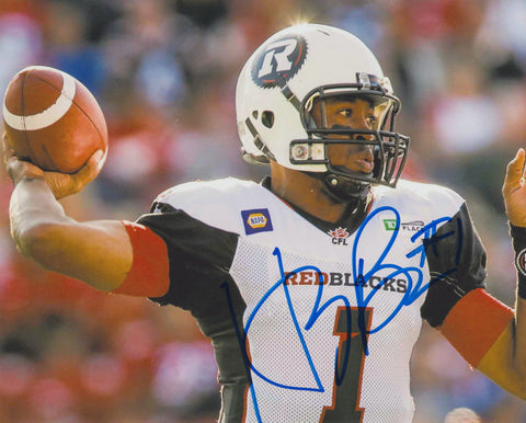 HENRY BURRIS SIGNED OTTAWA REDBLACKS 8X10 PHOTO 4