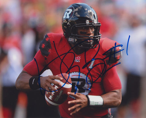 HENRY BURRIS SIGNED OTTAWA REDBLACKS 8X10 PHOTO 3