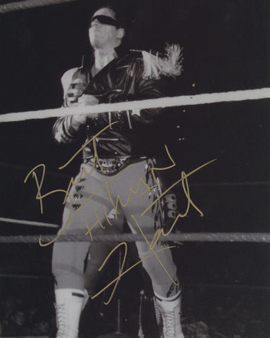BRET THE HITMAN HART SIGNED WWE WWF 8X10 PHOTO 4