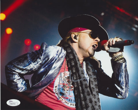 AXL ROSE SIGNED GUNS N ROSES 8X10 PHOTO 2 JSA