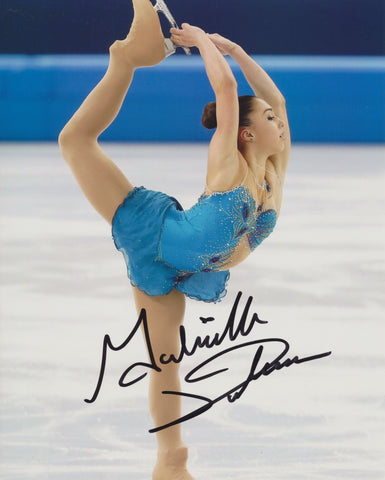 GABRIELLE DALEMAN SIGNED FIGURE SKATING 8X10 PHOTO