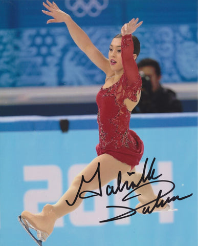 GABRIELLE DALEMAN SIGNED FIGURE SKATING 8X10 PHOTO 2