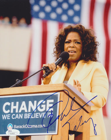 OPRAH WINFREY SIGNED 8X10 PHOTO 5 JSA