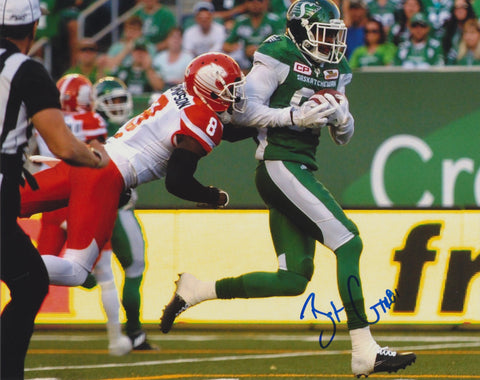 BAKARI GRANT SIGNED SASKATCHEWAN ROUGHRIDERS 8X10 PHOTO 2