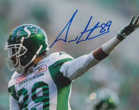 DURON CARTER SIGNED SASKATCHEWAN ROUGHRIDERS 8X10 PHOTO