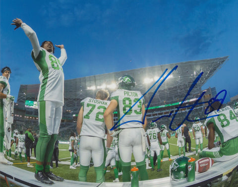 DURON CARTER SIGNED SASKATCHEWAN ROUGHRIDERS 8X10 PHOTO 2