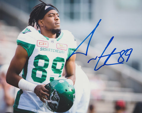 DURON CARTER SIGNED SASKATCHEWAN ROUGHRIDERS 8X10 PHOTO 3