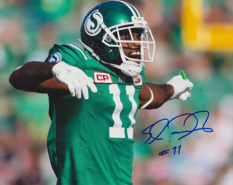 ED GAINEY SIGNED SASKATCHEWAN ROUGHRIDERS 8X10 PHOTO