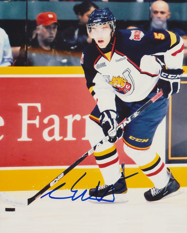 AARON EKBLAD SIGNED BARRIE COLTS 8X10 PHOTO 2