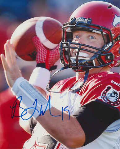 BO LEVI MITCHELL SIGNED CALGARY STAMPEDERS 8X10 PHOTO
