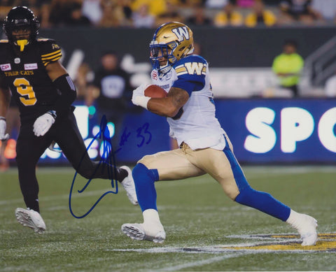 ANDREW HARRIS SIGNED WINNIPEG BLUE BOMBERS 8X10 PHOTO 3