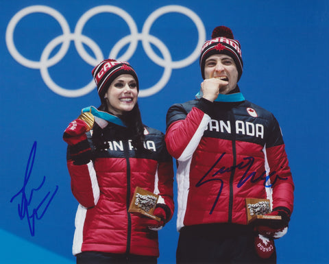 TESSA VIRTUE & SCOTT MOIR SIGNED 2018 OLYMPIC FIGURE SKATING 8X10 PHOTO