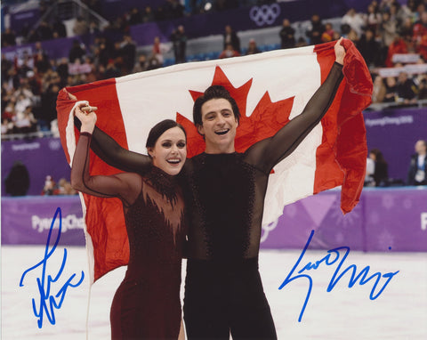TESSA VIRTUE & SCOTT MOIR SIGNED 2018 OLYMPIC FIGURE SKATING 8X10 PHOTO 2