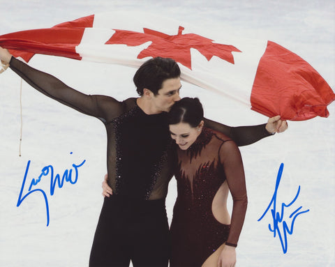 TESSA VIRTUE & SCOTT MOIR SIGNED 2018 OLYMPIC FIGURE SKATING 8X10 PHOTO 3