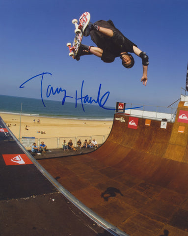 TONY HAWK SIGNED SKATEBOARDING 8X10 PHOTO X GAMES 2