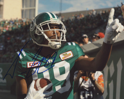 DURON CARTER SIGNED SASKATCHEWAN ROUGHRIDERS 8X10 PHOTO 6