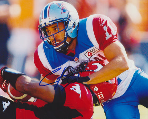 CHIP COX SIGNED MONTREAL ALOUETTES 8X10 PHOTO 2