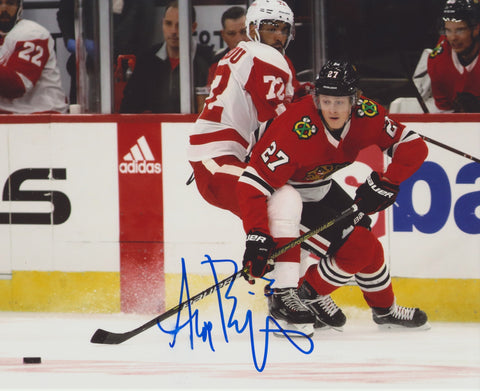 ADAM BOQVIST SIGNED CHICAGO BLACKHAWKS 8X10 PHOTO